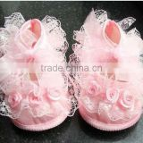 Cute Baby Lace Shoes with un-slip sole