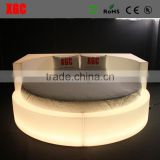 New design hotel rollaway beds luxury Circle shape hotel bed with 16 colors changing led light
