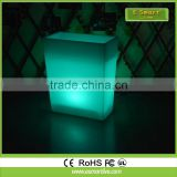 Colorful waterproof technology Led Flower Pot/color Changing Planter / Light Up Outdoor Furniture