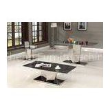 Multi Color Natural Luxury Living Room Furniture Marble Dining Table Set