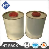 1L round tin can, paint can, paint/ink/solvent container