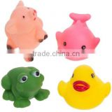 rubber floating PVC bath toys, China factory Rubber toys, bath bay toys for baby shower