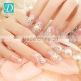 Fashionable Designed Finished Pearl Manicure Nail Tips