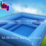 Quadrate Inflatable Triple Tubes Swimming Pool