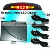 CE RoHS Passed Rainbow LED Display Car Reversing System