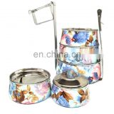 wholesale heat-resistant school bento lunch box stainless steel with fancy printing