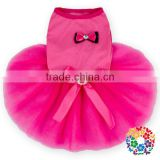 Hot Pink Bow Dog Tutu Dresses Dog Clothes Fine Designer Pet Products