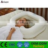 PVC inflatable hair wash basin inflatable shampoo basin for massage