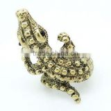 Punk Vogue Large Crocodile Metal Ring Wholease Jewelry