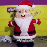 2m Height Cute Christmas Decorative Inflatable Santa for Event and Outdoor Decoration