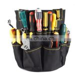 The large capacity multifunctional barrel tool bag for electrician workers