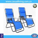 Zero Gravity Chair Case of 2 Folding Lounge Patio Chairs Outdoor Yard Beach with Cup Holder