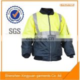 High Visibility Safety 100% Polyester Lightweight Waterproof Jacket with reflector
