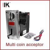 Coin operated machne multi coin acceptor for 6 coins