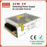 35w power supply 5V led driver SMPS with 2 years warranty