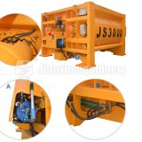 JS3000 electric concrete mixer applications in project