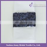 NP020E navy blue sequin decoration custom napkin bands