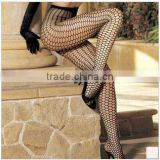 Hotest Spring Summer Fashion Model Sheer Thin Fishnet Polka Dots Black Silk Feeling Sexy Women Tights