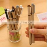 Korea stationery simple kraft paper shell neutral pen creative 0.5mm