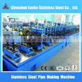Stainless steel Pipe Production Line Type and building or other Application welded pipe making machine