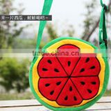 promotional 20cm kids summer Watermelon Messenger Bag