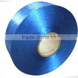 Dope dyed flame retardant low melting polyester yarn