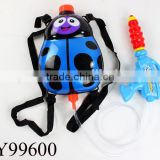 Summer game Seven-spotted ladybug animal air pressure plastic kids backpack water gun toys 2 colors