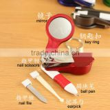 personalized nail cutters nail scissors ball pen with mirror