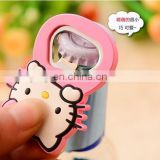 promotion creative cartoon character rubber fridge magnet with beer bottle opener