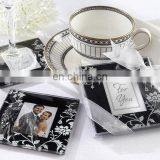 Timeless Traditions Black and White Photo Coasters