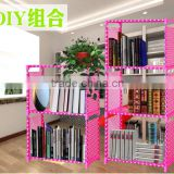 New design easy assemble cheap price iron bookshelf