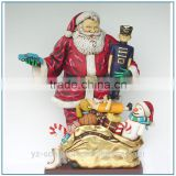 Hot sale christmas decoration Resin Father Christmas sculpture