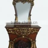 new style decoration carved base make up furniture