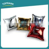 Toprank Newest Creative Two Tone Glitter Decorative Sequin Throw Pillow Mermaid Reversible Sequin Cushion