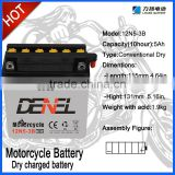 Pure lead electric motorcycle battery suppiler