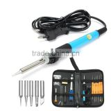 Professional 110V/220V 60W Adjustable Temperature Welding Solder Soldering Iron Tool Kit