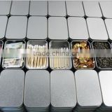 Size:95x65x20mm silver rectangle tinbox