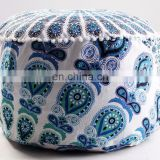 Indian Living Room Beautiful Mandala Pouf Cover Manufactures Green & Multi Color Ottomans Wholesale Pouf covers