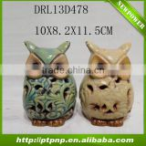new design ceramic owl plant pots for home and garden ornament