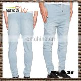 hot item drop crotch jogger sweat jeans wholesale men retro jeans pants