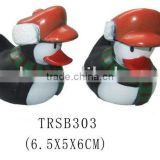 Promotional christmas bath floating PVC duck/bath toy