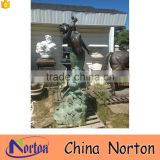 Large casting bronze mermaid outdoor water fountain NTBF-MF276A