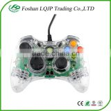 USB Wired Green <b>LED</b> Transparent <b>Controller</b> For <b>XBOX</b> 360