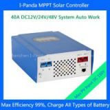 CE RoHS 2240W 48V 40A MPPT solar charge controller charge Vented, Sealed, Gel,LCD solar tracking system 11 languages