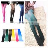 Hotest Custom Gift Women Gradient Watercolor Neon Candy Color Winter Thick Velvet Wholesale Ladies Tights
