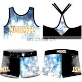 Practice crop top custom design fashion bra cheerleading uniform