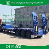 High Performance Heavy Excavator Transport  3 Axle Low Bed Semi Trailer
