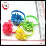 Fashion flower scrunchie flower elastic band                                                                         Quality Choice