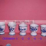 porcelain blue fluted pattern daily ware