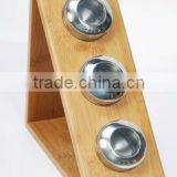 Spice Bottle With Bamboo holder # 90039